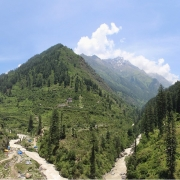 Manali - Manikaran (1700m) - Pulga (2100m) drive 84 kms, 3 hrs Trek to Khir Ganga (2850m) 4/5 hrs